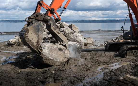 Bulkhead Construction on Puget Sound