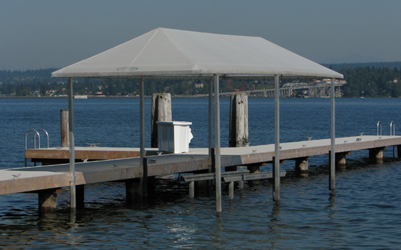 Residential Dock Canopy and Boatlifts